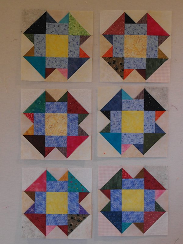 January Scrappy Blocks