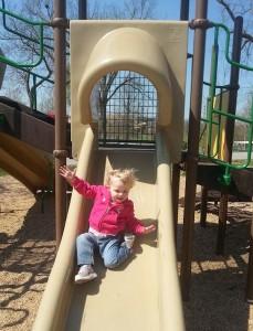 Addie on the Slide