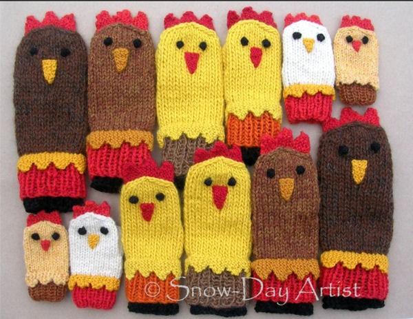 Chicken Mittens