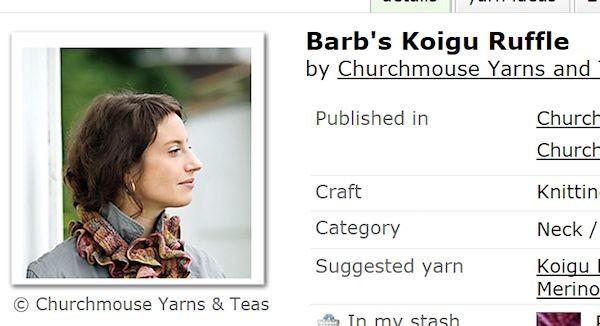 Barb's Koigu Ruffle