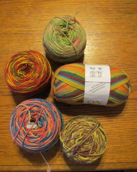 Yarn for Barb's Koigu Rufle
