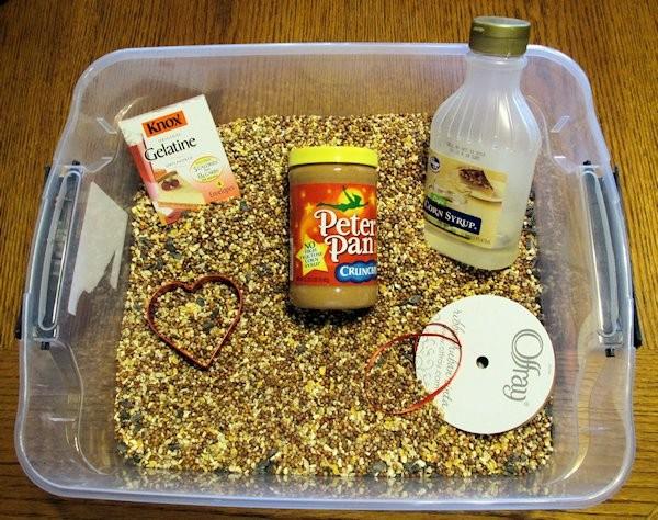 Bird Seed Heart Ingredients