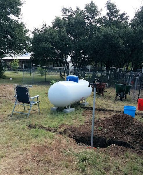 Propane Tank for the Greenhouse