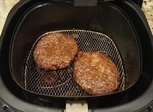 Burgers Cooked in Air Fryer