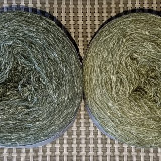 Two Green Yarns for Rime Sweater